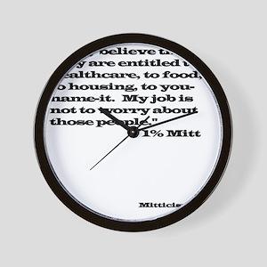 1% Mitt Wall Clock