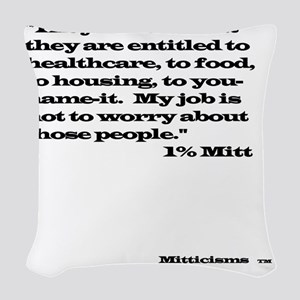 1% Mitt Woven Throw Pillow