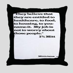 1% Mitt Throw Pillow