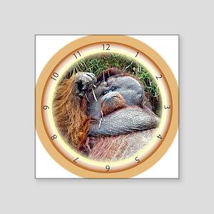 "Lazy Orangutan Square Sticker 3"" x 3"""