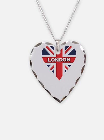 London Heart Script Necklace