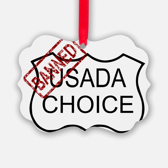 USADA BANNED Ornament