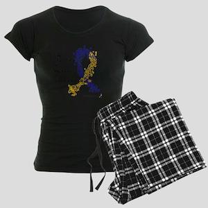 World of Down Syndrome Aware Women's Dark Pajamas