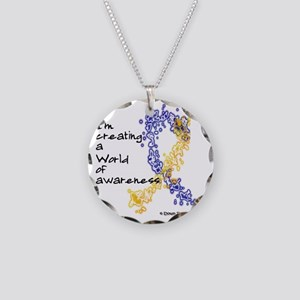 World of Down Syndrome Aware Necklace Circle Charm