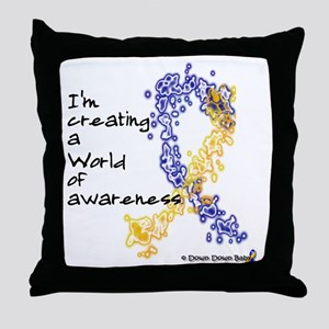 World of Down Syndrome Awareness (new Throw Pillow