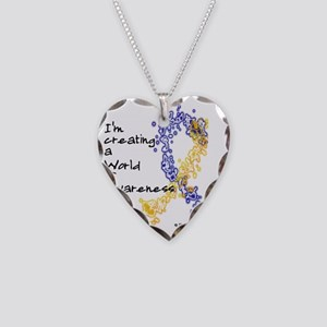 World of Down Syndrome Awaren Necklace Heart Charm