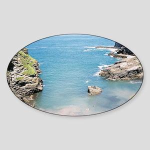 Tintagel Cornwall Sticker (Oval)