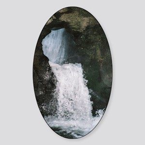 St. Nectan's Glen Waterfall Sticker (Oval)
