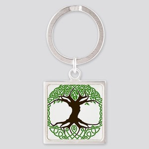 colored tree of life Square Keychain