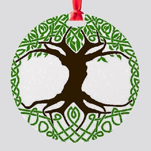 colored tree of life Round Ornament