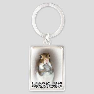 Laughing Squirrel Portrait Keychain