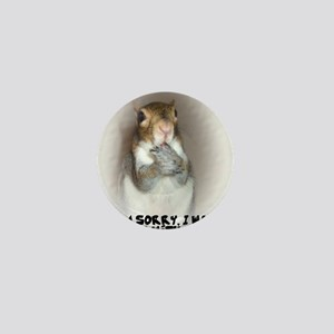 Laughing Squirrel Mini Button