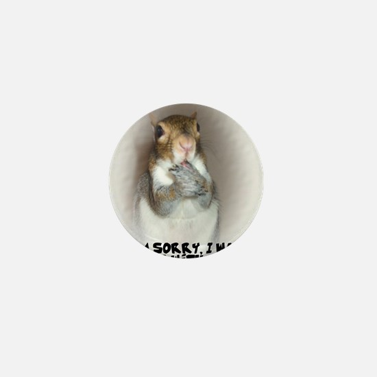 Laughing Squirrel Mini Button