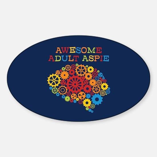 Aspie Adult Autism Sticker (Oval)