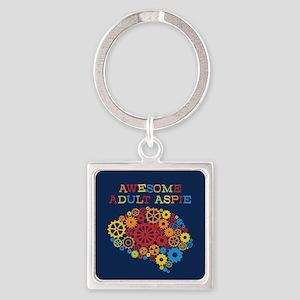 Aspie Adult Autism Square Keychain