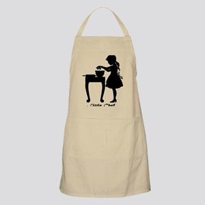 Little Chef Breaking Eggs in Mixing Bowl Apron