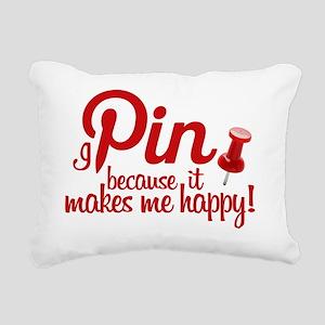 Pinning 3 Rectangular Canvas Pillow