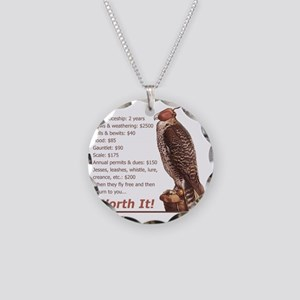 Falconry - Worth It! Necklace Circle Charm