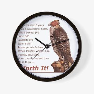 Falconry - Worth It! Wall Clock