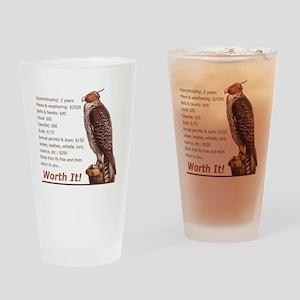 Falconry - Worth It! Drinking Glass