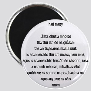 Hail Mary in Gaelic Magnet