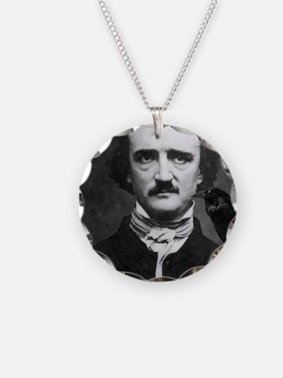 Poe Boy Necklace Circle Charm