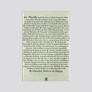 DESIDERATA Poem Rectangle Magnet