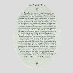 DESIDERATA Poem Oval Ornament