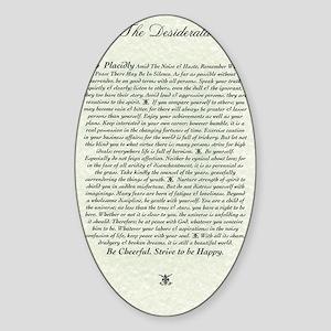 DESIDERATA Poem Sticker (Oval)
