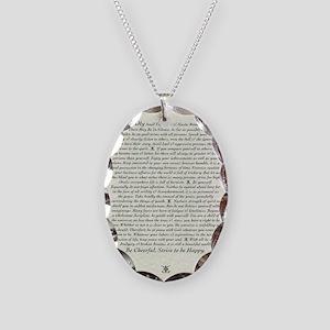 DESIDERATA Poem Necklace Oval Charm