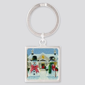 American Snowman Gothic Square Keychain