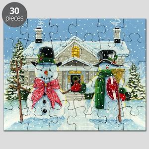 American Snowman Gothic Puzzle