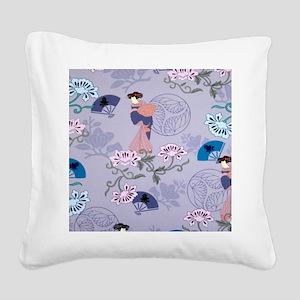 jAPANESE LADIES PATTERN Square Canvas Pillow