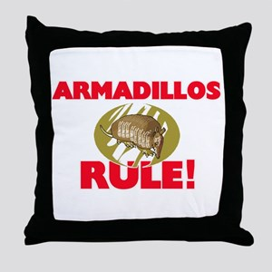 Armadillos Rule! Throw Pillow