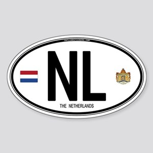 Netherlands Intl Oval Oval Sticker