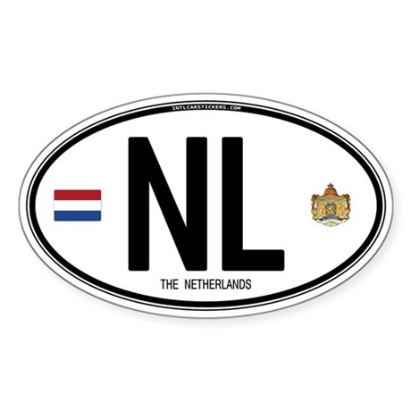 Netherlands Intl Oval Oval Sticker