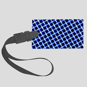 Macrophoto of a lattice of polye Large Luggage Tag