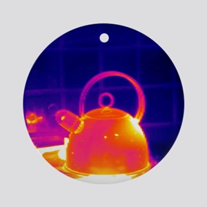 Making tea, thermogram Round Ornament