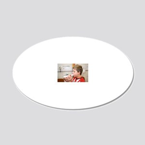 Lung function test 20x12 Oval Wall Decal