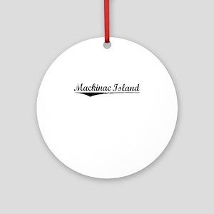 Mackinac Island, Vintage Round Ornament