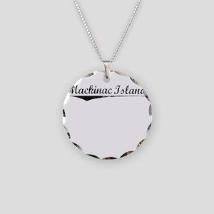 Mackinac Island, Vintage Necklace Circle Charm