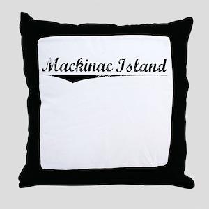 Mackinac Island, Vintage Throw Pillow
