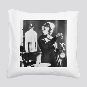 Marie Curie, a Polish-French  Square Canvas Pillow