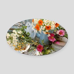 Medicinal plants Oval Car Magnet