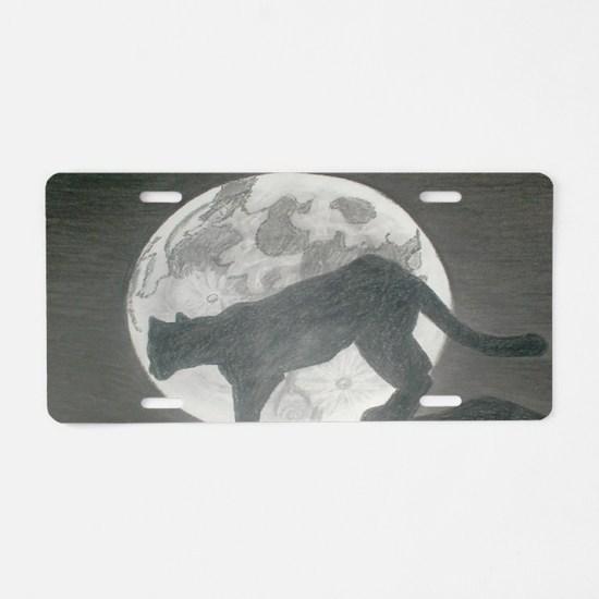 Midnight Prowl  Aluminum License Plate