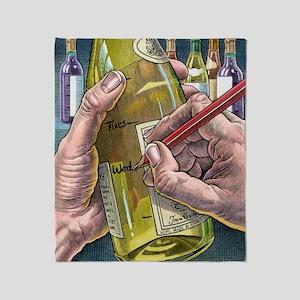 Measuring alcohol intake, artwork Throw Blanket