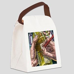 Measuring alcohol intake, artwork Canvas Lunch Bag
