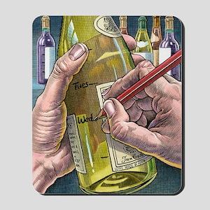 Measuring alcohol intake, artwork Mousepad