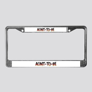 Aunt-to-be License Plate Frame