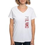 Poland Women's V-Neck T-Shirt